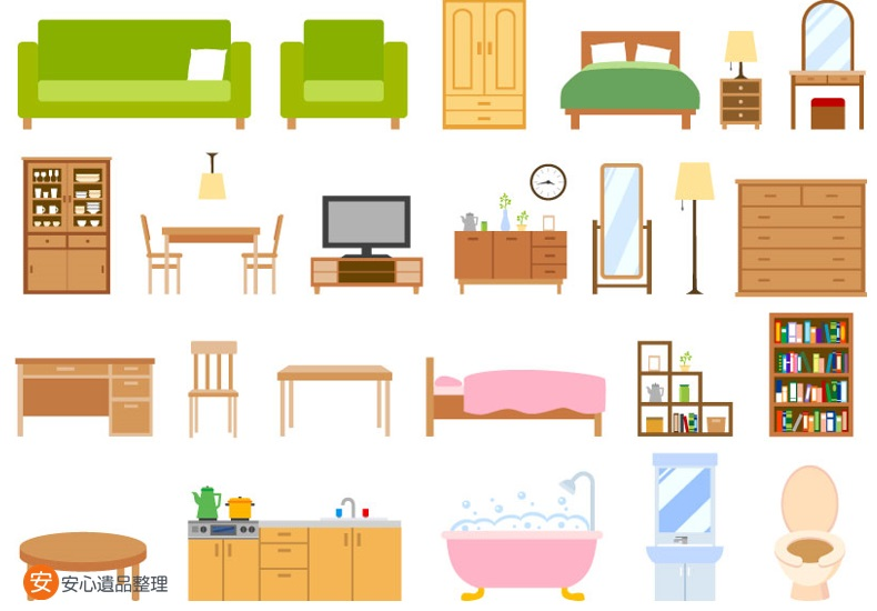 家具一式のイラスト
