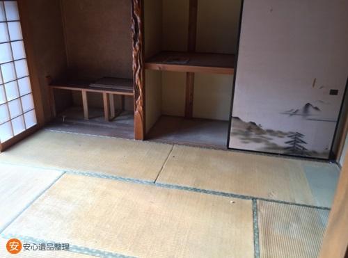 遺品整理した和室2