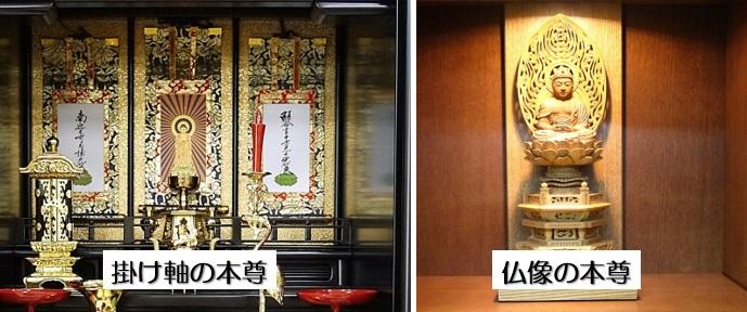 掛け軸の本尊と仏像の本尊